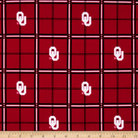 NCAA University of Oklahoma Sooners Flannel Plaid Red/White