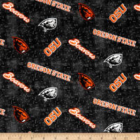 NCAA Oregon State University Flannel Distressed Logo Grey