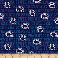NCAA Penn State Distressed Logo Allover Blue