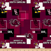 NCAA University of South Carolina Blocks Allover Red
