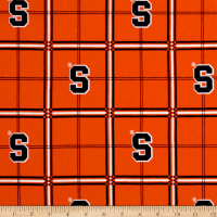 NCAA Syracuse University Flannel Plaid Orange