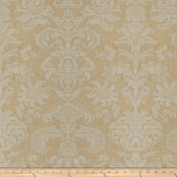 Fabricut Tufa Damask Linen Blend Gold Dust