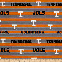 NCAA University of Tennessee Polo Stripe Allover Grey