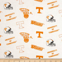 NCAA University of Tennessee Tossed Logos White