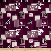 NCAA Texas A&M University Blocks Allover Maroon