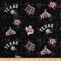 NCAA Texas A&M University Flannel Distressed Logo Grey