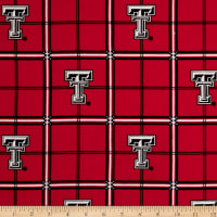 NCAA Texas Tech University Red Raiders Flannel Plaid Red