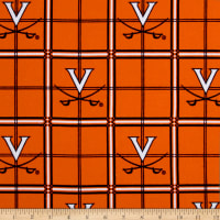 NCAA University of Virginia Flannel Plaid Orange