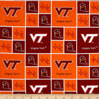 NCAA Virginia Tech Hokies Box Logos Allover