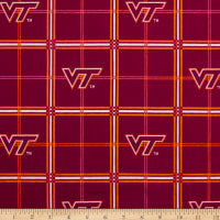 NCAA Virginia Tech Hokies Flannel Plaid Red