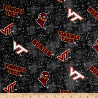 NCAA Virginia Tech Flannel Distressed Logo Red