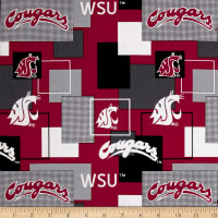 NCAA Washington State University Blocks Allover Red/Grey