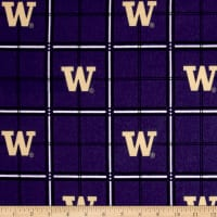 NCAA University of Washington Huskies Flannel Plaid Blue