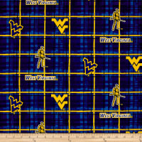 NCAA University of West Virginia Plaid Prints Blue