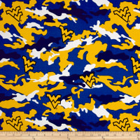 NCAA West Virginia Mountaineers Camouflage Blue/Yellow