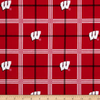 NCAA University of Wisconsin Badgers Flannel Plaid Red/Black