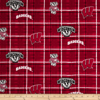 NCAA University of Wisconsin Plaid Prints Red
