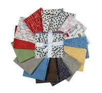 Riley Blake Varsity Hockey Fat Quarter Bundle 15 Pcs Multi