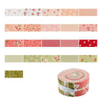 "Riley Blake Summer Blush 2.5"" Rolie Polie 40 Pcs Multi"