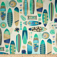 STOF France Cretonne Surfbeach Blue