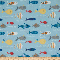Stof  Enfant Barracuda Blue
