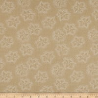 "108"" Wide Back Monotones Floral White/Teastain"