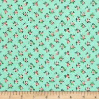 New Country Calicos Flowers Mint