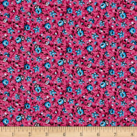 New Country Calicos Floral Fuchsia/Blue