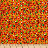 New Country Calicos Floral Orange/Lime