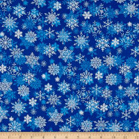 Christmas Cheer Snowflakes Blue