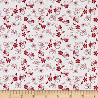 Chelsea by Christine Graf Quilting Treasures BTY Paisley Leaf Tonal Red