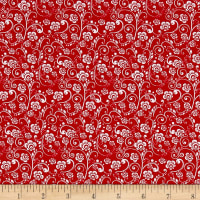 The Red and Black Basics Paisley Floral Red/White