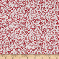 The Red and Black Basics Paisley Floral Red