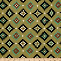 Navajo Earth Tones Green