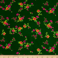 Botanical Garden Floral Dark Green