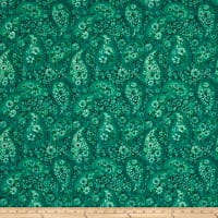 "108"" Wide Back Paisley QB Emerald Green"