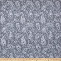 "108"" Wide Back Paisley Grey"