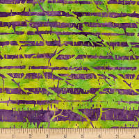 Island Batik Morning Sunshine Branches Purple/green