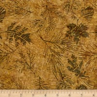 Island Batik Northern Woods Leaves Nutmeg