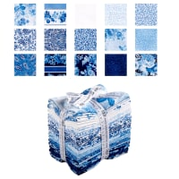 Kaufman Mayfield Fat Quarter 15 Pcs Bundle Indigo