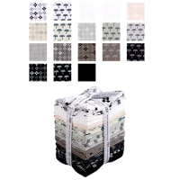 Kaufman Blueberry Park Fat Quarter 20 Pcs Bundle Neutral