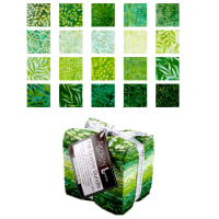 Kaufman Artisian Batik: Color Source Fat Quarter 20 Pcs Bundle Green