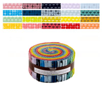 "Kaufman Blueberry Park 2.5"" Roll Up 40 Pcs Bright"