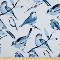 Richloom Birdwatcher Exclusive Birds Basketweave Blue