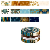 "Kaufman Terracina 2.5"" Roll Up 40 Pcs Teal"