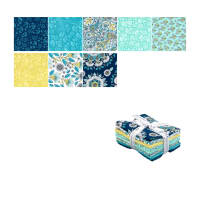 Kaufman Delphine Fat Quarter Bundle 8 Pcs Breeze