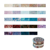 "Kaufman Arboretum Batiks 2.5"" Roll Up 40 Pcs Multi"