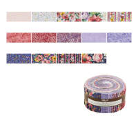 "Kaufman Woodside Blossom 2.5"" Roll Up 40 Pcs Spring"