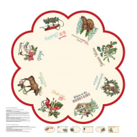 "Spruce Mountain Tree Skirt 43"" Panel Cream"