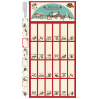 "Spruce Mountain Calendar 24"" Panel Red"